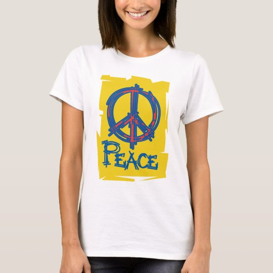 Grungy Peace Sign T-Shirt