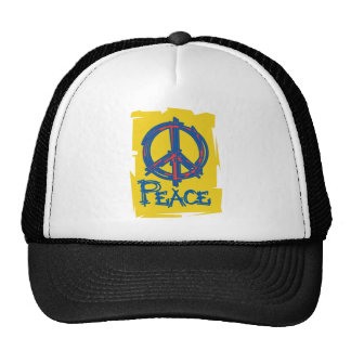 Grungy Peace Sign Trucker Hat