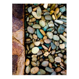Grungy pebbles postcard