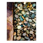 Grungy pebbles postcards