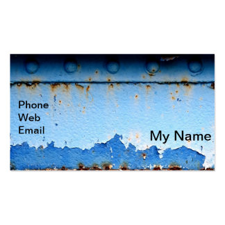 Grungy Peeling Paint Steel Background Double-Sided Standard Business Cards (Pack Of 100)