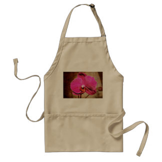 Grungy Pink Phalaenopsis Orchid Adult Apron