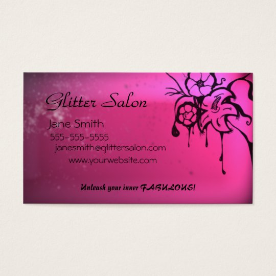 Grungy Pink Salon Business Card