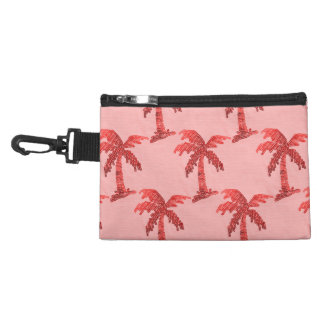 Grungy Pink Sequin Palm Tree Image Accessory Bag