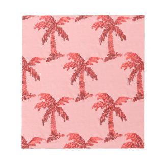 Grungy Pink Sequin Palm Tree Image Note Pad