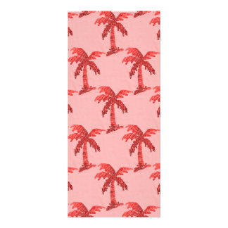Grungy Pink Sequin Palm Tree Image Rack Card