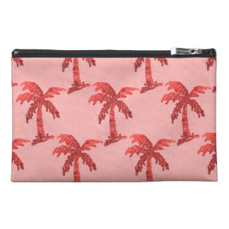 Grungy Pink Sequin Palm Tree Image Travel Accessory Bag