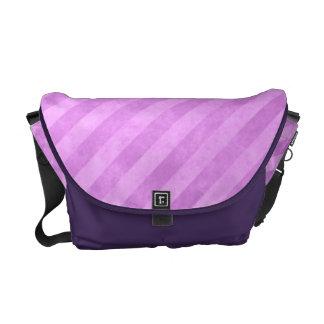Grungy Pink Stripe Pattern Messenger Bag