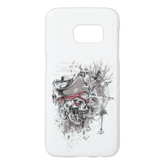 Grungy Pirate Skull on a Phone Case