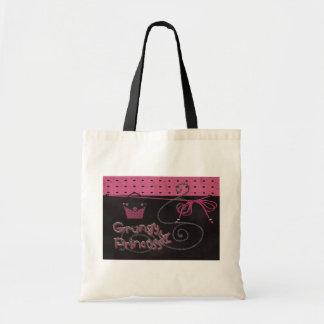 grungy princess canvas bags