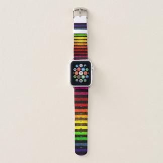 Grungy Rainbow Pattern Apple Watch Band