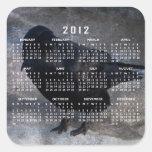 Grungy Raven; 2012 Calendar Square Sticker