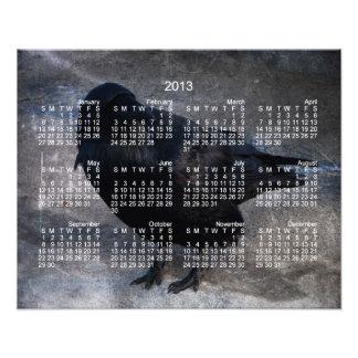 Grungy Raven; 2013 Calendar Photo Art