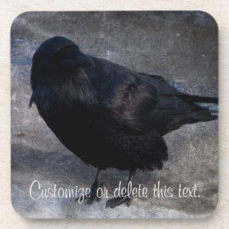 Grungy Raven; Customizable Drink Coaster