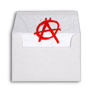 Grungy Red Anarchy Symbol Envelope