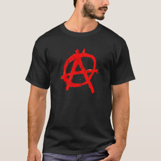 Grungy Red Anarchy Symbol T-Shirt
