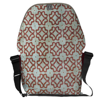 Grungy Red and White Pattern Messenger Bag