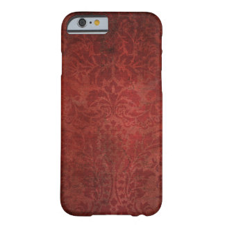 Grungy Red Damask Barely There iPhone 6 Case