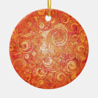 grungy red ornament