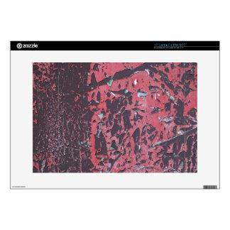 Grungy Red Peeling Paint Laptop Skin