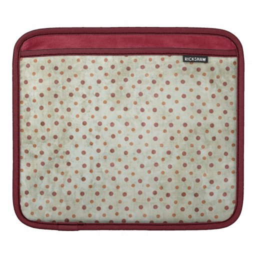 Grungy Red Polka Dot Pattern Sleeve For iPads