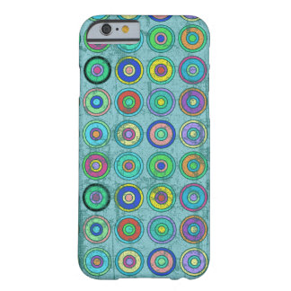 Grungy Retro Blue Circle Pattern iPhone 6 Case
