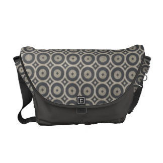 Grungy Retro Circle Pattern Courier Bags