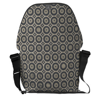 Grungy Retro Circle Pattern Commuter Bags