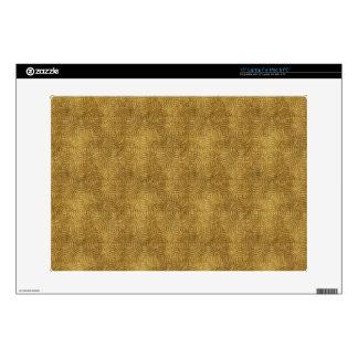 "Grungy Retro Yellow Pattern 15"" Laptop Skins"