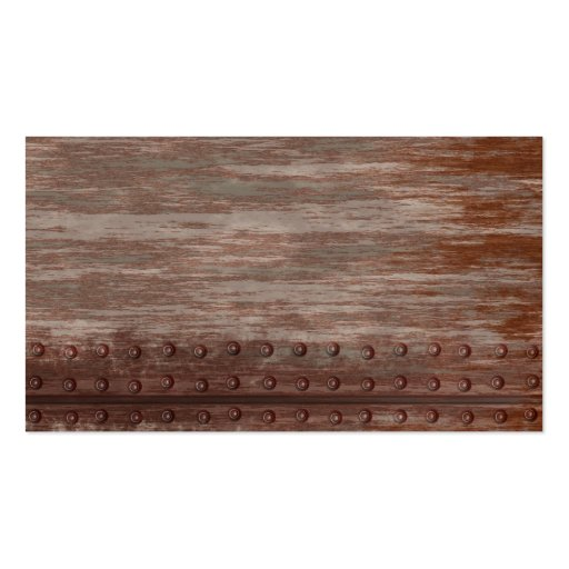 Grungy Riveted Rusty Metal Business Card