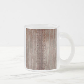Grungy Riveted Rusty Metal Frosted Glass Coffee Mug