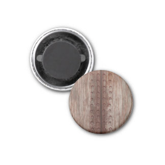 Grungy Riveted Rusty Metal Magnet