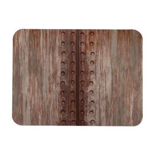 Grungy Riveted Rusty Metal Magnets