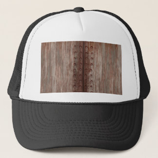 Grungy Riveted Rusty Metal Trucker Hat