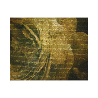 grungy rose gallery wrapped canvas