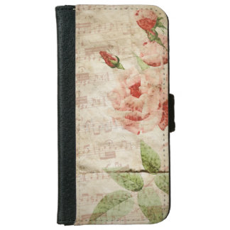 Grungy Roses and Music iPhone 6/6s Wallet Case