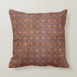 Grungy Rust and Blue Pattern Pillows