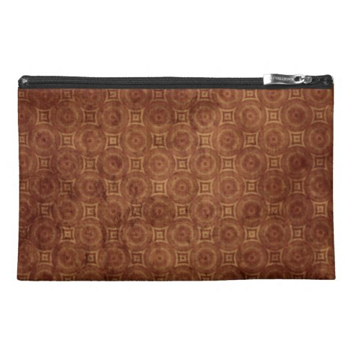 Grungy Rust Colored Pattern Design Travel Accessory Bags