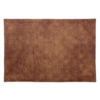 Grungy Rust Colored Pattern Design Placemats