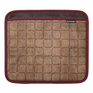 Grungy Rust  Retro Square Pattern iPad Sleeve