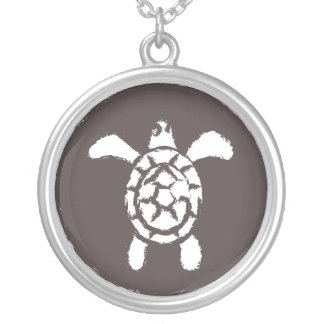 Grungy Sea Turtle Necklace