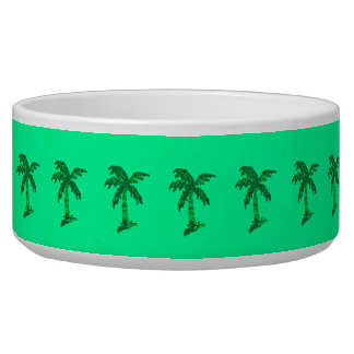 Grungy Sequined Palm Tree Image Bowl