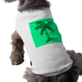 Grungy Sequined Palm Tree Image Tee