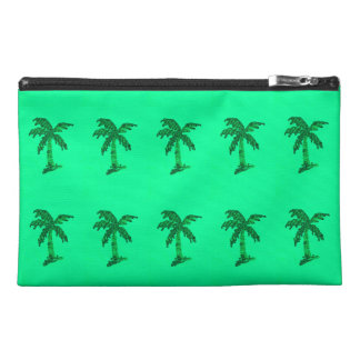 Grungy Sequined Palm Tree Image Travel Accessory Bag