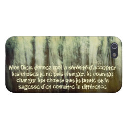 Grungy Serenity Prayer in French Case