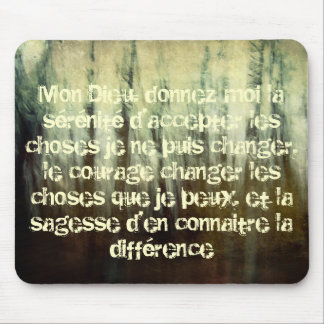 Grungy Serenity Prayer in French Mousepad