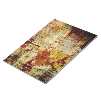 Grungy Shopping Lists Collage Note Pad
