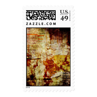 Grungy Shopping Lists Collage Postage