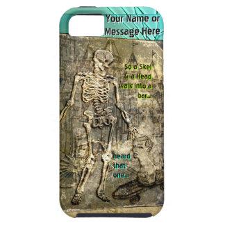 Grungy Skeleton Jokes (Personalized) iPhone SE/5/5s Case