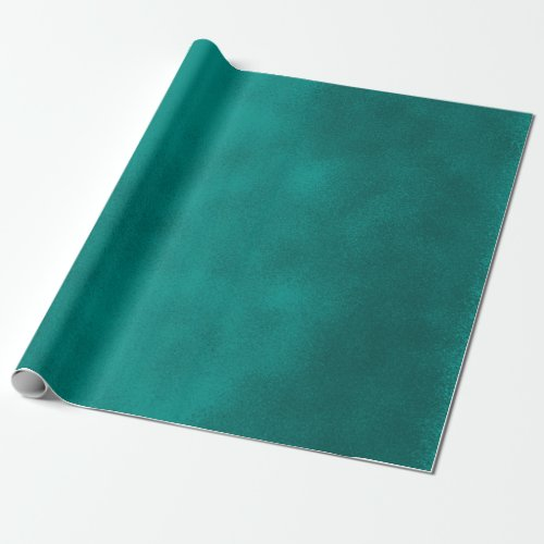 Grungy Smudge Teal Blue Wrapping Paper
